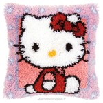 Coussin point noué hello kitty