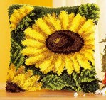 Coussin point noué Tournesol