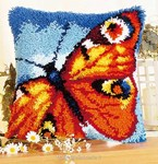 Coussin point noué Papillon