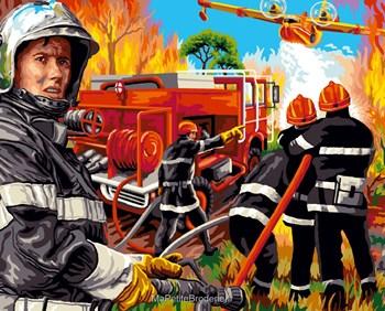 Au feu les pompiers canevas pompiers m tiers canevas par th me canevas sur - Dessin pompier humoristique ...