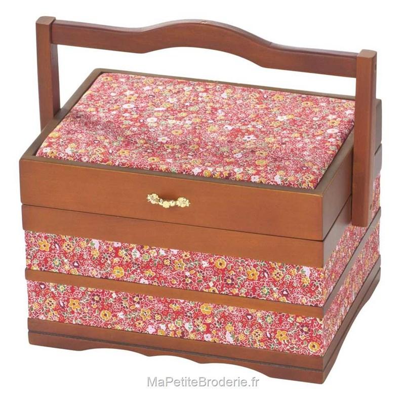 Boite couture en bois linda accessoires boite et sac for Boite a couture en cuir