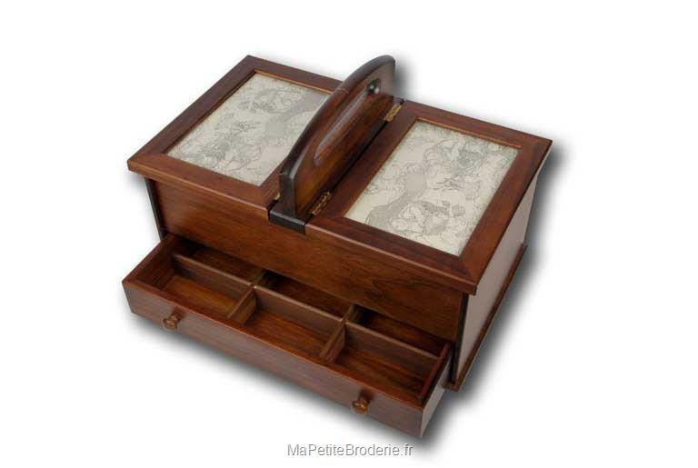 Boite de couture accessoires boite de couture en bois for Boite a couture en cuir