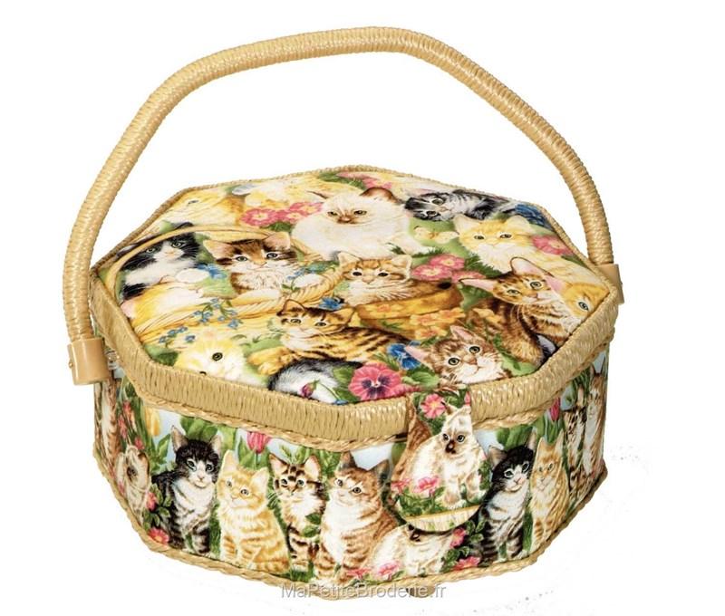 Boite couture chats accessoires boite de couture en for Boite a couture avec accessoires