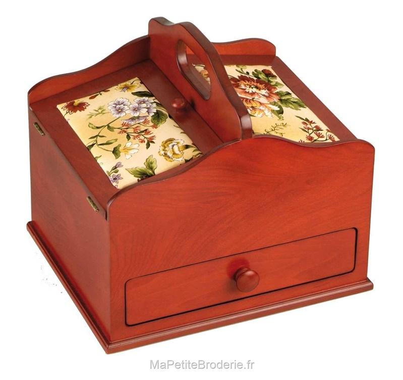 Boite couture couleur cerisier accessoires boite et for Boite a couture avec accessoires