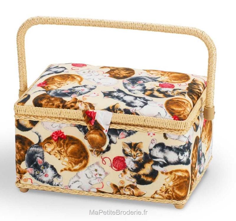 Boite couture tissu chat les joueur accessoires for Boite a couture avec accessoires