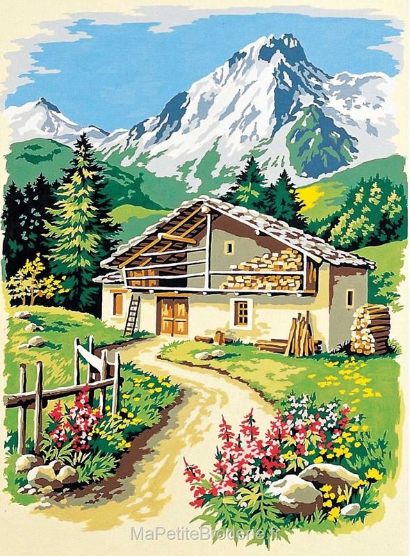 canevas seg le chemin du chalet canevas seg canevas montagne 929 306. Black Bedroom Furniture Sets. Home Design Ideas