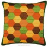 Coussin long point hexagones